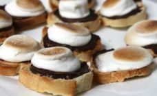Mini s'mores toast