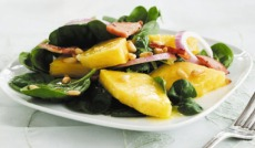 Pineapple, Bacon and Spinach salad