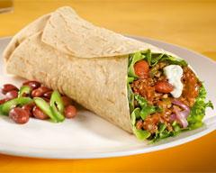 Chili con carne burrito