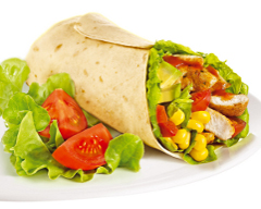 Chicken and Salad Burritos