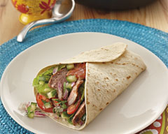 Seared Lamb and Tomato Burrito