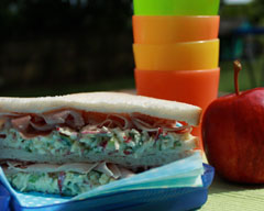 Ham and apple slaw sandwiches