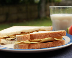 Kiwi chip and marmite sandwiches