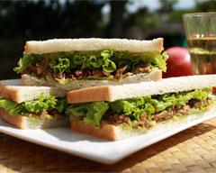 Teriyaki chicken and avocado sandwiches