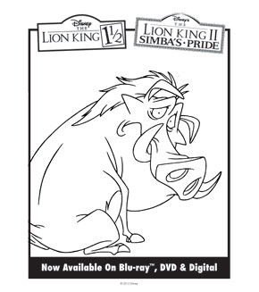 Lion King Colouring Sheet 1