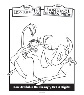 Lion King Colouring Sheet 3