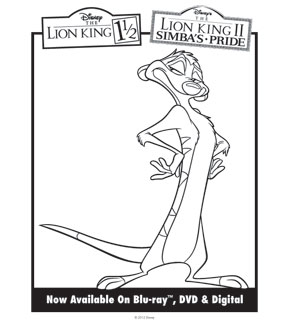 Lion King Colouring Sheet 5