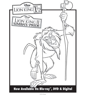 Lion King Colouring Sheet 7