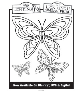 Lion King Colouring Sheet 9