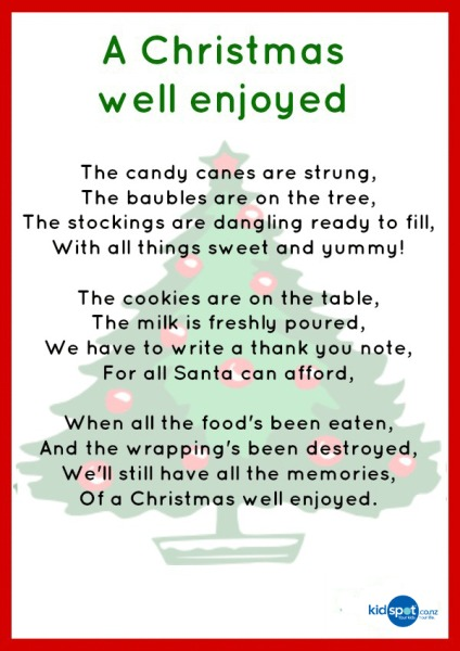Printable Activities - Poems - Christmas