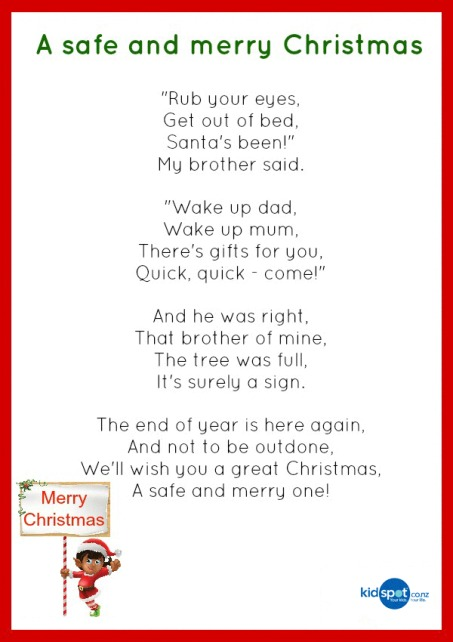 Favoloso Printable Activities - Poems - Christmas GL44
