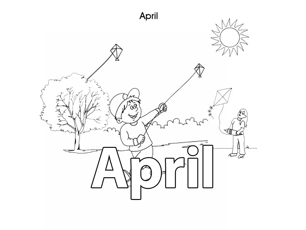 Activities For Kids  April  Colouring In