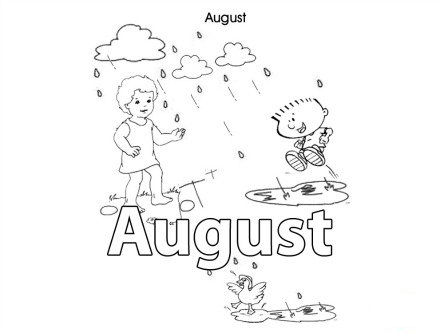 august coloring pages worksheets - photo#24