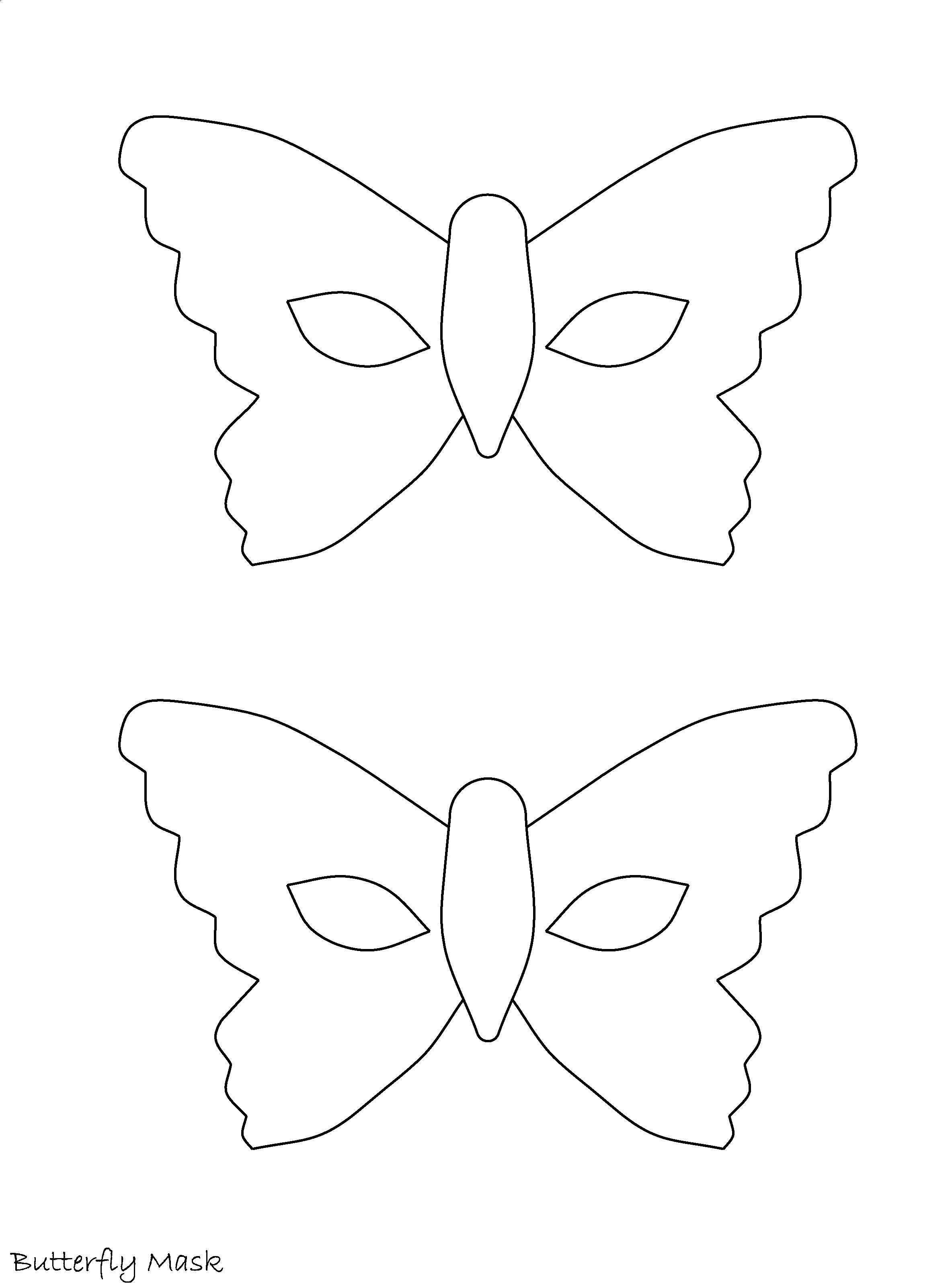 easy costume butterfly mask dress ups mask printables