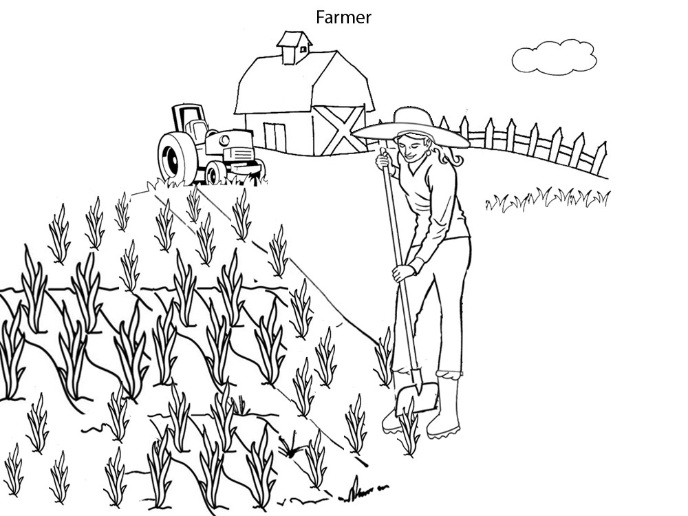 coloring pages of farmers - photo#21