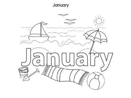 Months of the Year Tracing and Coloring Pages | Coloring pages ... | 333x444