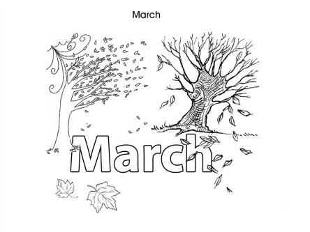 March Colouring Pages Colouring In