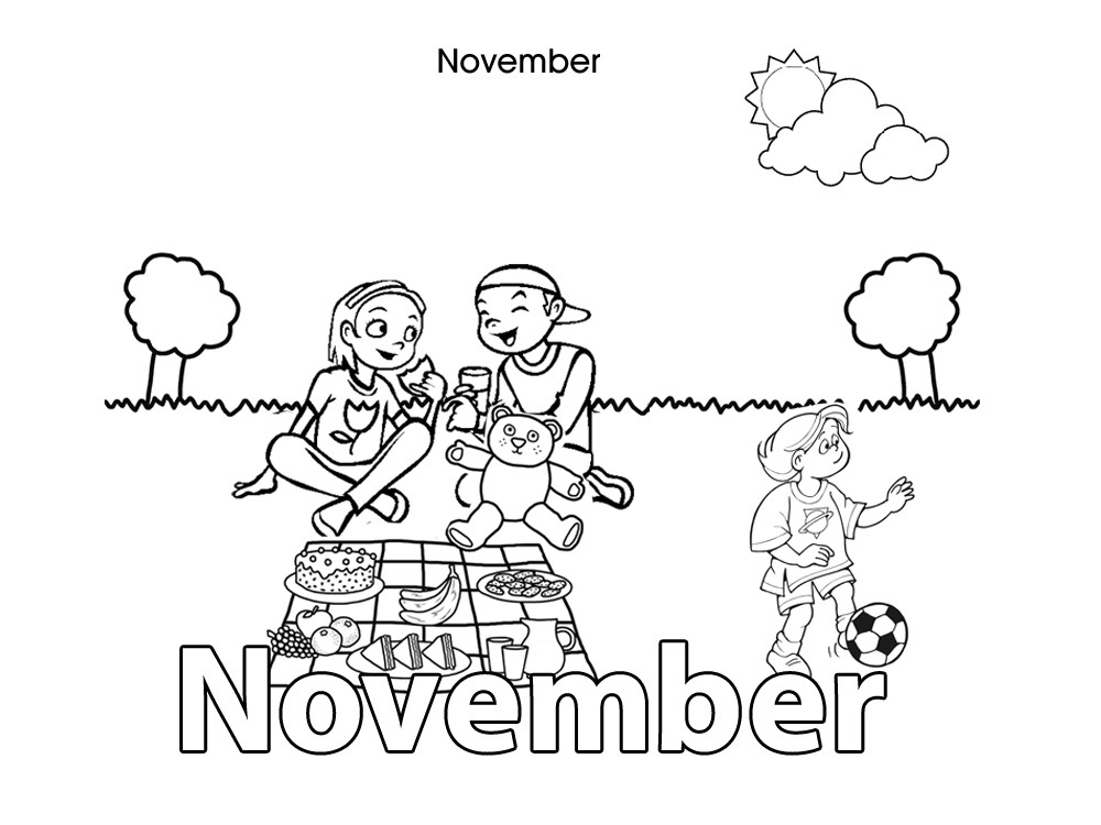 Activities for kids november colouring in for Coloring pages for november
