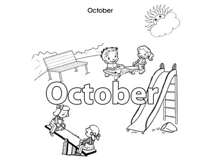 Activities For Kids - October - Colouring In