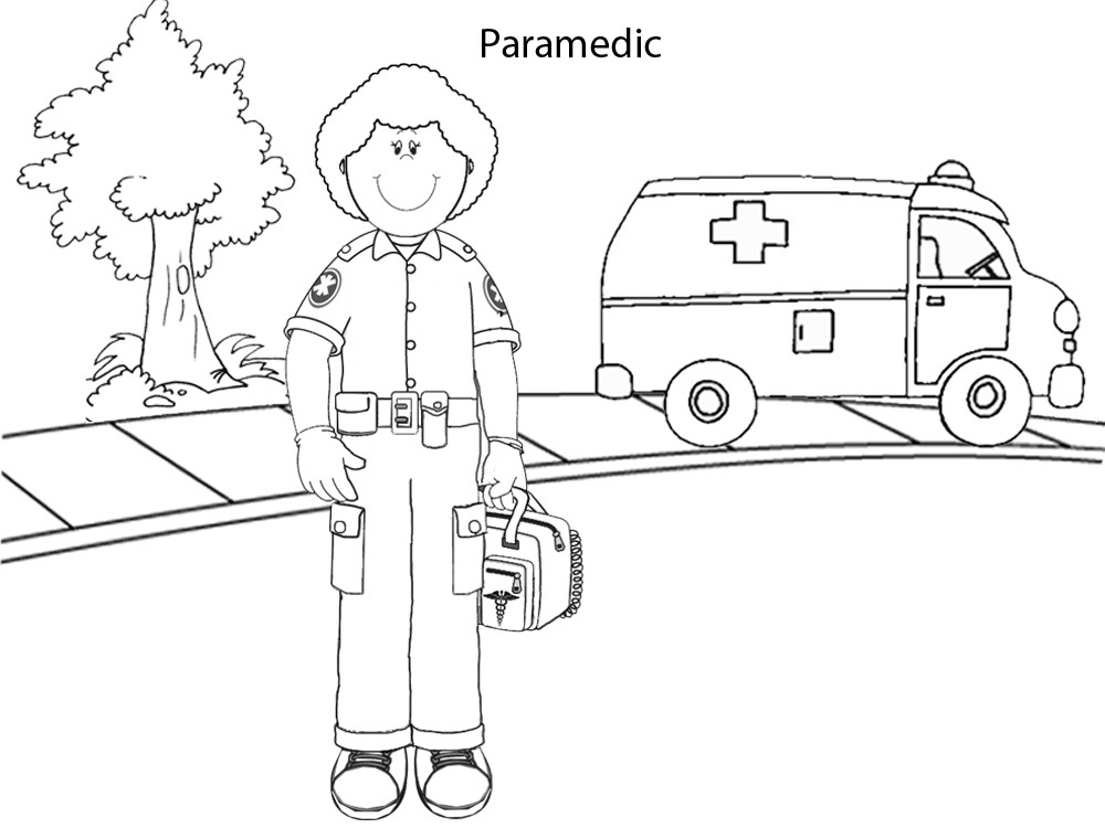 Paramedic - Printables - Colouring Pages