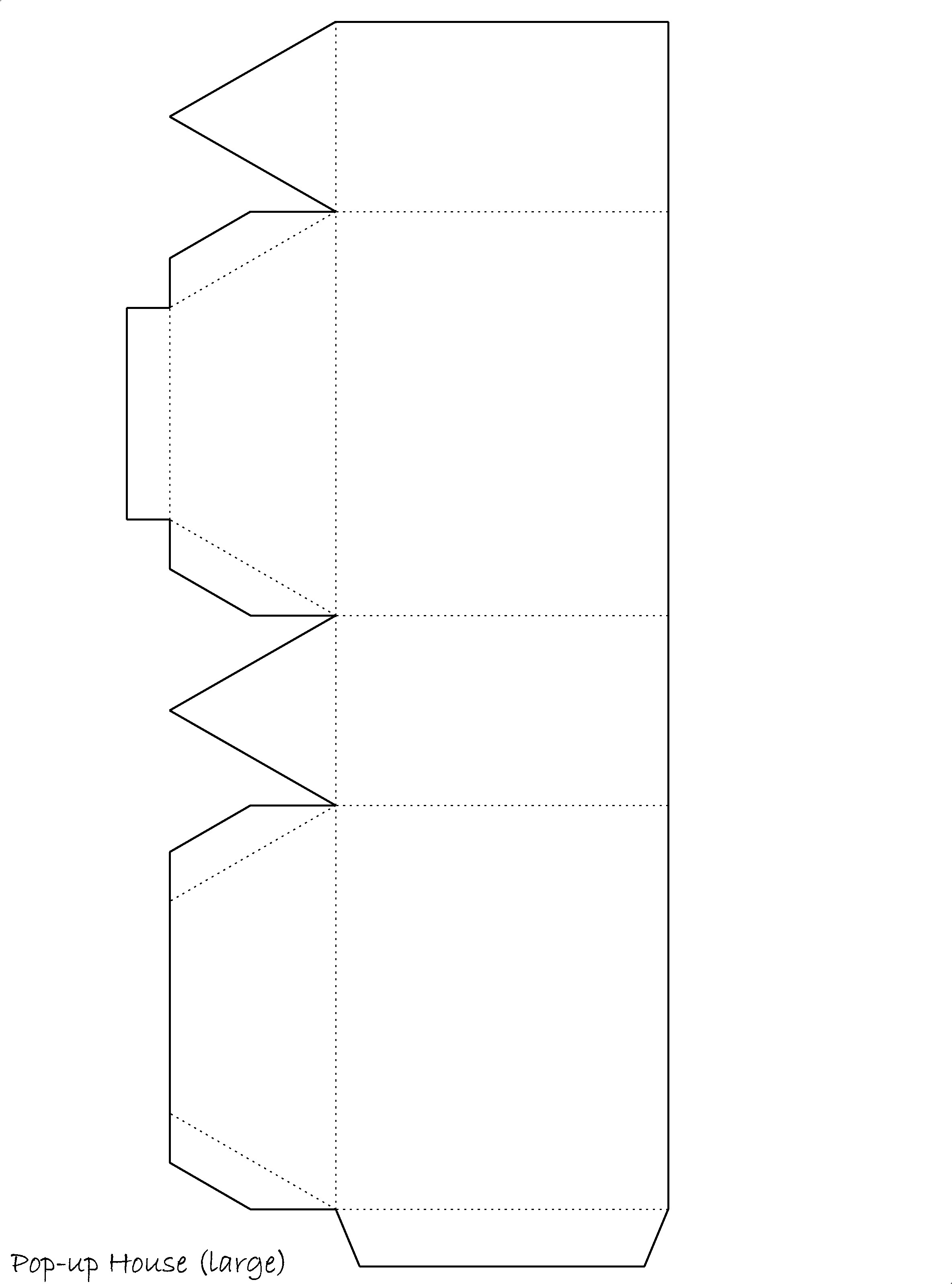 Print Out The Large House Printable Template