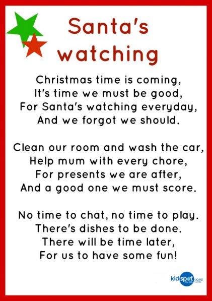 Printable Activities - Poems - Christmas
