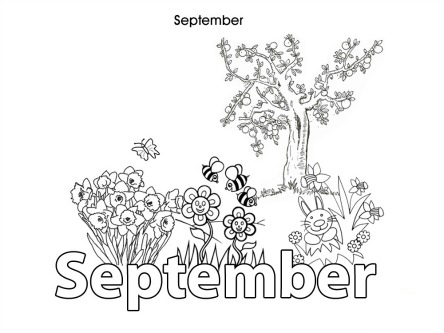 Coloring pages - Months | Stock Photo and Image Collection by ... | 333x444