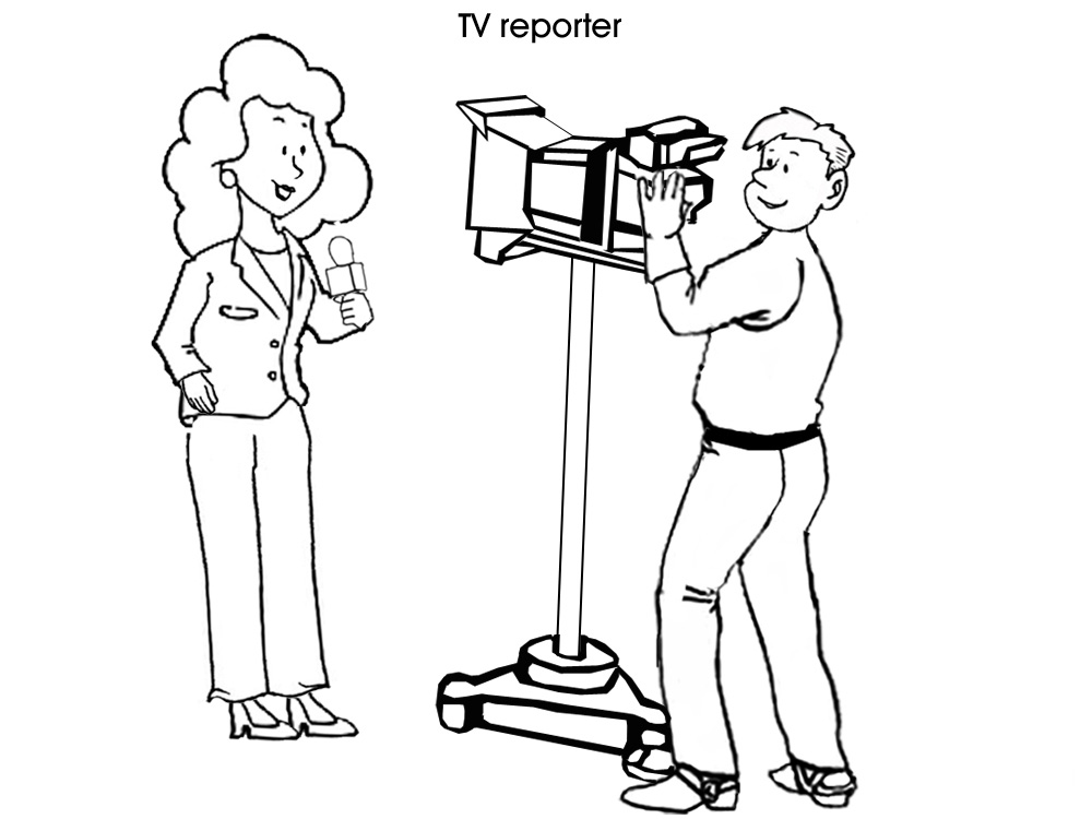 coloring picture of reporters coloring pages. Black Bedroom Furniture Sets. Home Design Ideas