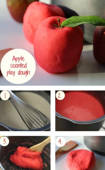 Apple-scented play dough