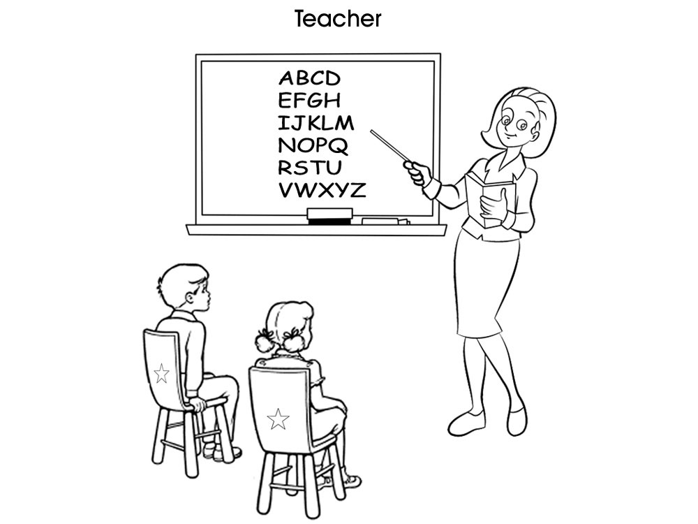teacher coloring page. print this colouring page. printable ...