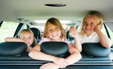 Kids fighting in the car